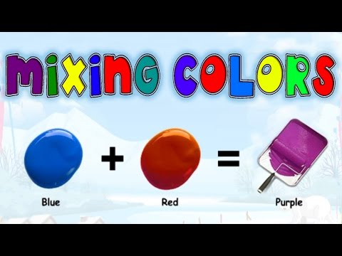 Mixing & Matching Colors, Secondary Colors, Learning Basic Colors Video for Kids, Preschoolers