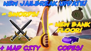 JAILBREAK SWORD UPDATE + UNIQUE MAD CITY CODES! (Roblox)