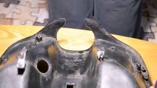 ремонт пластика на прикладі кишені XONDA DIO 35(частина 1)
