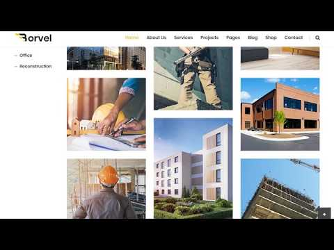 Borvel - Construction Building Company HTML Template