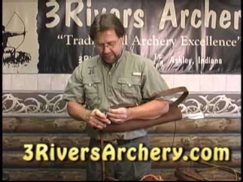 3Rivers Archery:  Installing The Traditional Side Strap