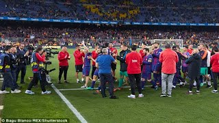 Gerard Pique asked Barcelona staff to form guard of honour after Real Madrid snubbed rivals