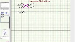 Lagrange Multipiers: Find the Max and Min of a Function of Two Variables