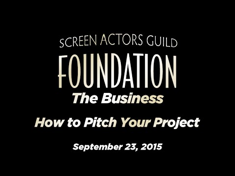 The Business: How to Pitch Your Project