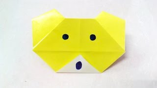 How to make an origami paper bear | Origami / Paper Folding Craft, Videos and Tutorials.