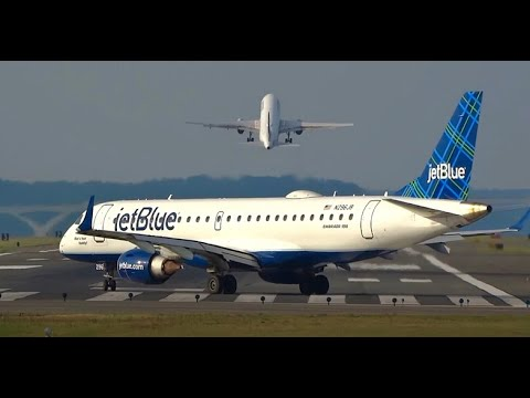 (HD) Watching Airplanes - Gravelly Point Plane Spotting - Washington National Airport KDCA/DCA