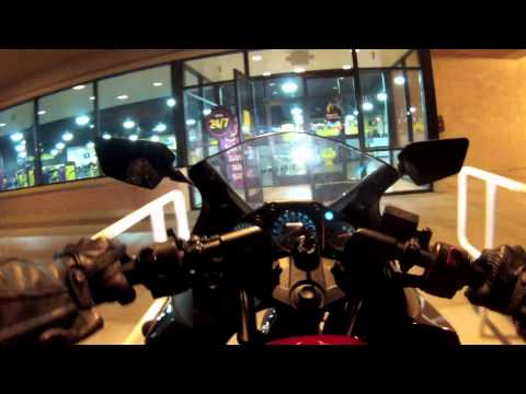 GoPro Hero 3 White Edition 1080p 30fps Motorcycle Chesty View, Night And Gas Tank View