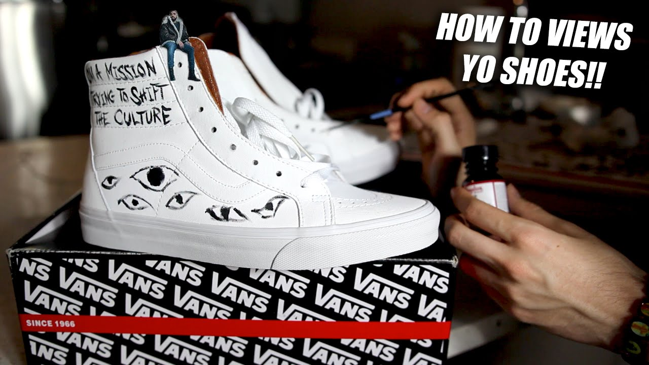 c98c01a2476e50 Views From the 6 Vans Skate High Sneaker Customization Tutorial! How ...
