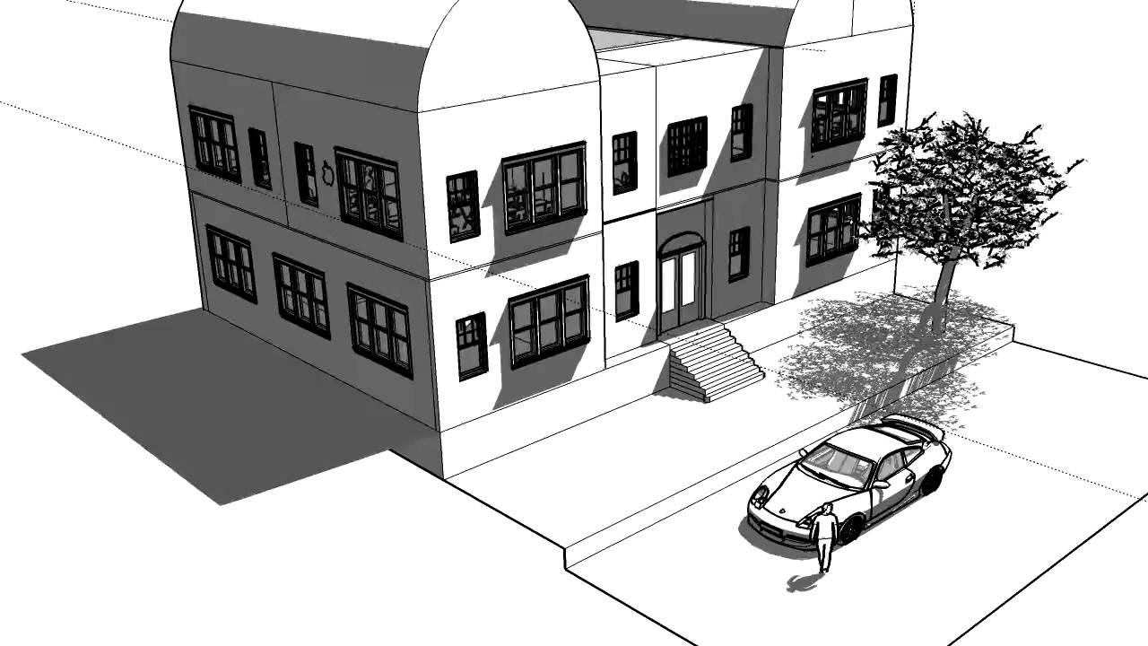 Ksg kunstvak 3d tekenen youtube for Huizen tekenen