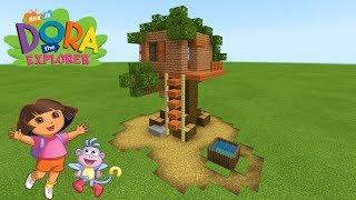 """Minecraft: How To Make Dora the Explorers Treehouse """"Dora The Explorer"""""""