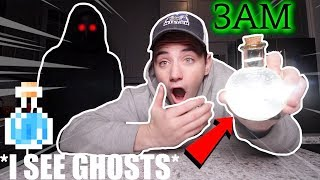 (Insane) Ordering Potion of GHOST VISIBILITY From the Dark Web at 3AM (I can see Ghosts)