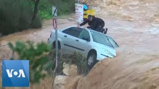 Dramatic Footage Shows Rescue of Man From Flash Flood Near Jerusalem