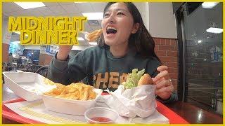 My Midnight Mukbang (CHEESE FRIES + FISH SANDWICH)
