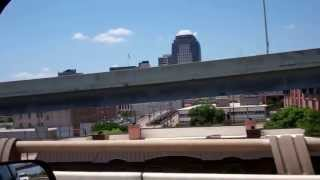 Downtown Shreveport, La from I-20
