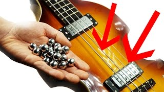 To get the marbles to hit the bass strings accurately on the Marble...