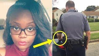 Policía le dijo que abriera el baúl de su coche, lo que la cámara capto se difunde por todo el mundo