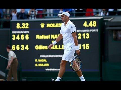 Rafael Nadal loses thrilling Wimbledon five-set epic to Gilles Müller