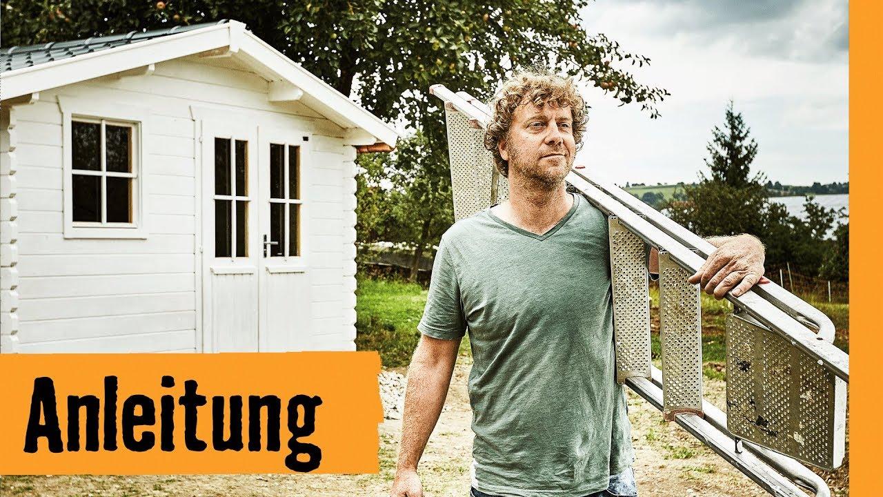 gartenhaus bauen mit fundament hornbach meisterschmiede youtube