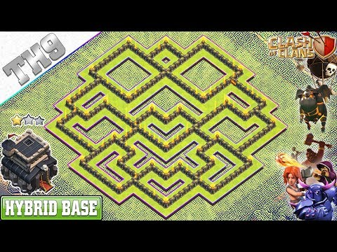 NEW TH9 Base 2019 With REPLAY | Anti 3/2 Star TH9 Hybrid Base - Clash Of Clans