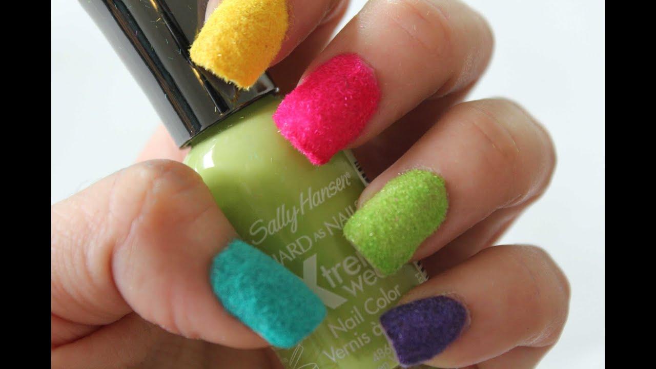 Uñas Gamuza - Velvet Nail Manicure - YouTube