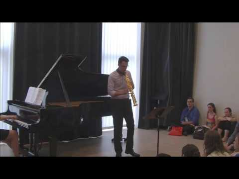Stephen Page Performs John Mackey Concerto for Soprano Saxophone I, II