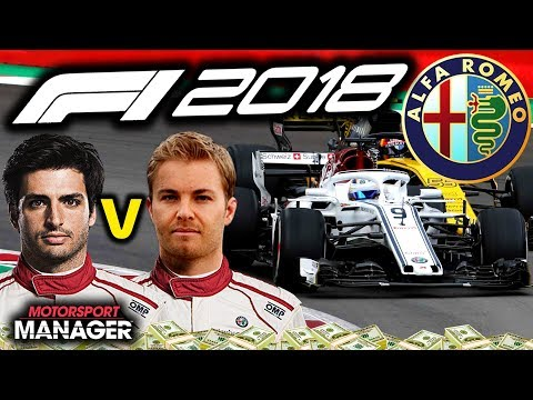 ROSBERG V SAINZ?! MEGA RACE FOR US!!!  - F1 2018 Alfa Romeo Manager Career Part 42