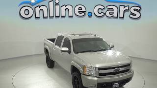 A97861GT Used 2007 Chevrolet Silverado 1500 LT 4WD Silver Z71 Test Drive, Review, For Sale