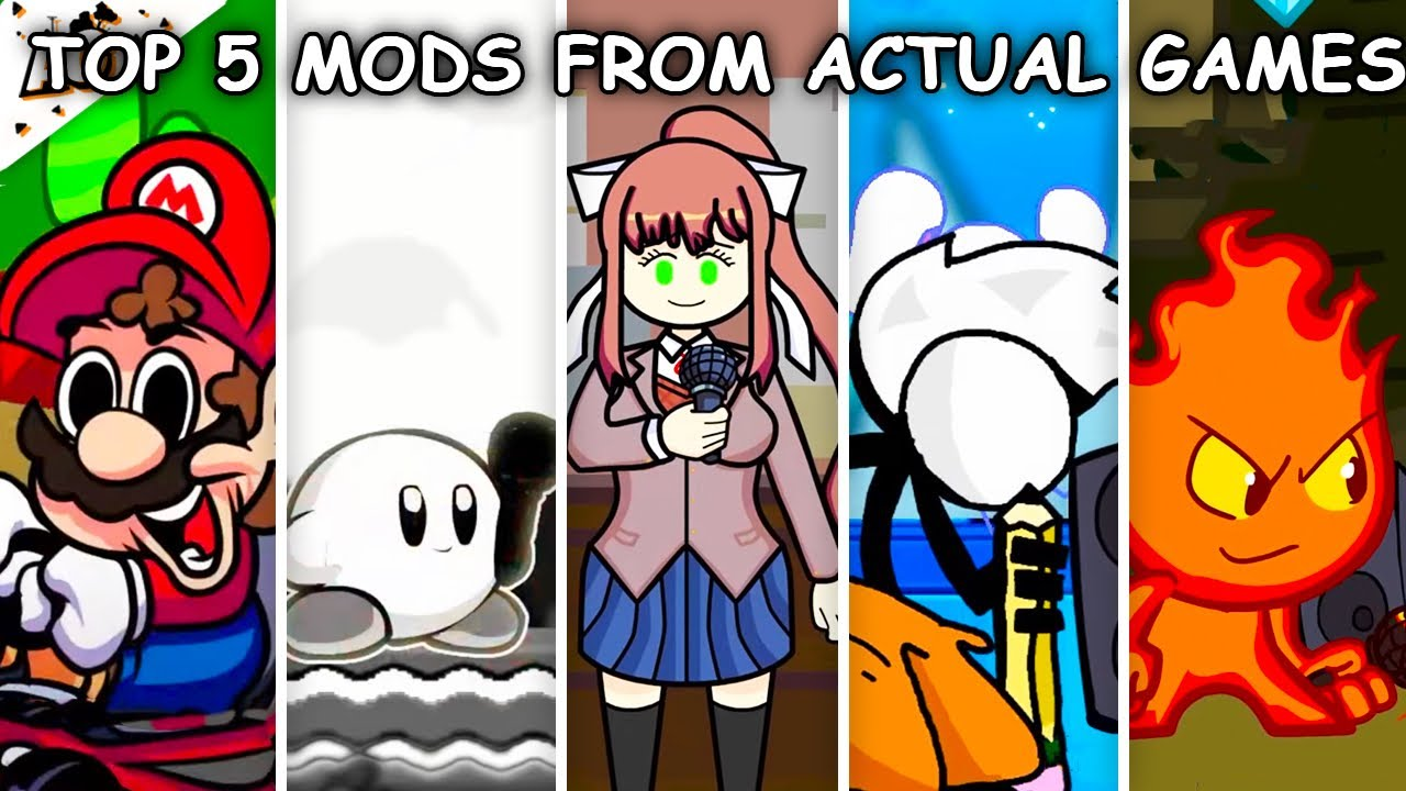 Top 5 Mods from Actual Games - Friday Night Funkin'