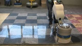 Granite floors grinding and polishing with Klindex Levighetor