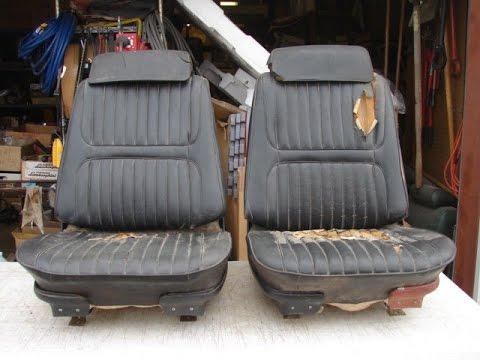 1967 BLACK HEAD REST RECLINING BUCKET SEATS CHEVELLE SS 396 GTO 400