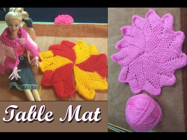 Table Mat/Thal Posh/Coster in Easy Hindi Knitting (????  ??? / ??? ??? ) | Knitting Hindi |