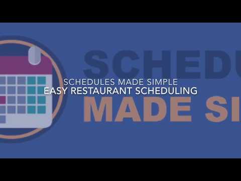 restaurant schedules made simple