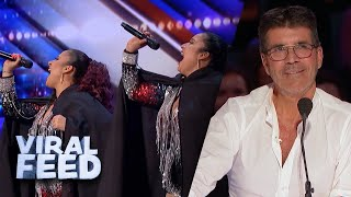 DOUBE TROUBLE TWIN SISTERS AUDITION FOR AMERICA'S GOT TALENT | VIRAL FEED