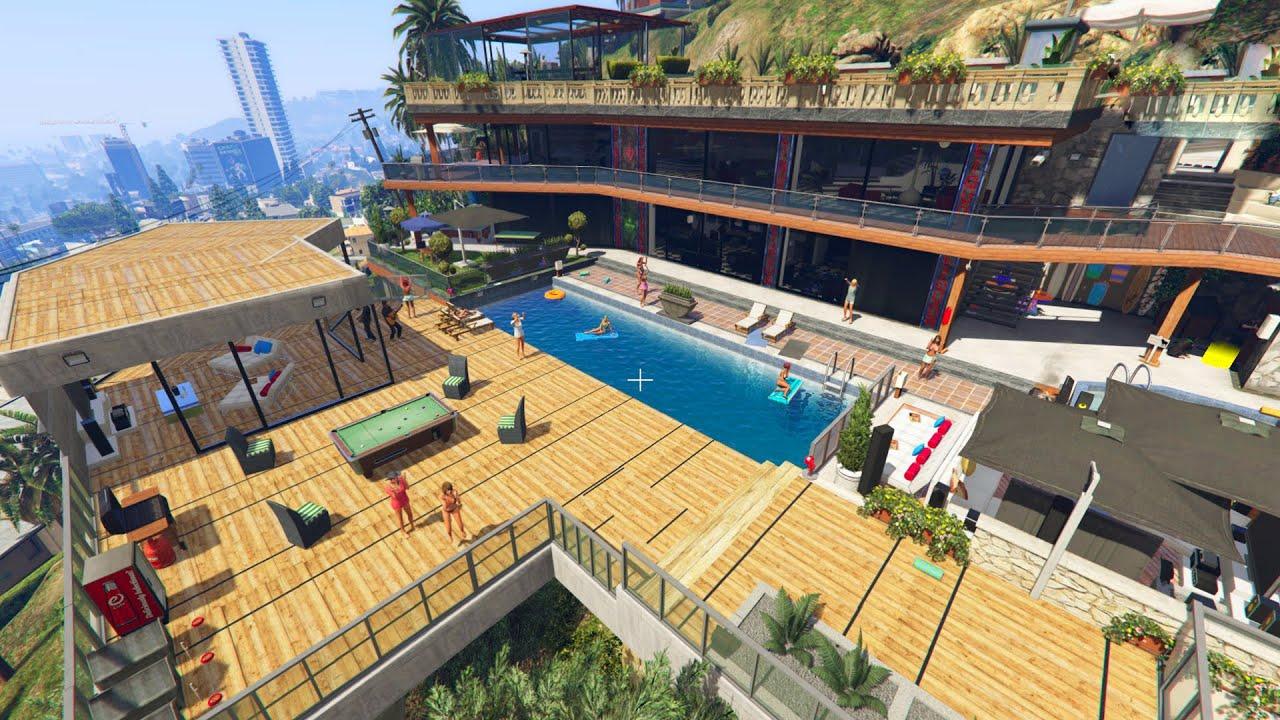GTA 5 FRANKLIN\'S NEW MANSION HOUSE UPGRADE (GTA 5) - YouTube