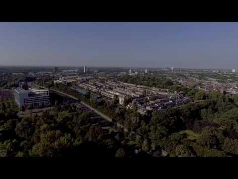 Utrecht from above in 4k