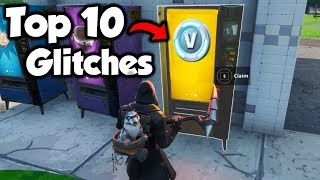 The Top 10 Fortnite Glitches In 1 Video... *NEW*