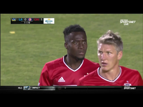 David Accam scores a penalty for Chicago Fire