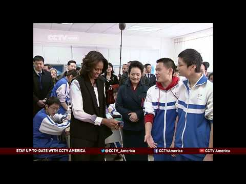 First Lady Michelle Obama Visits China