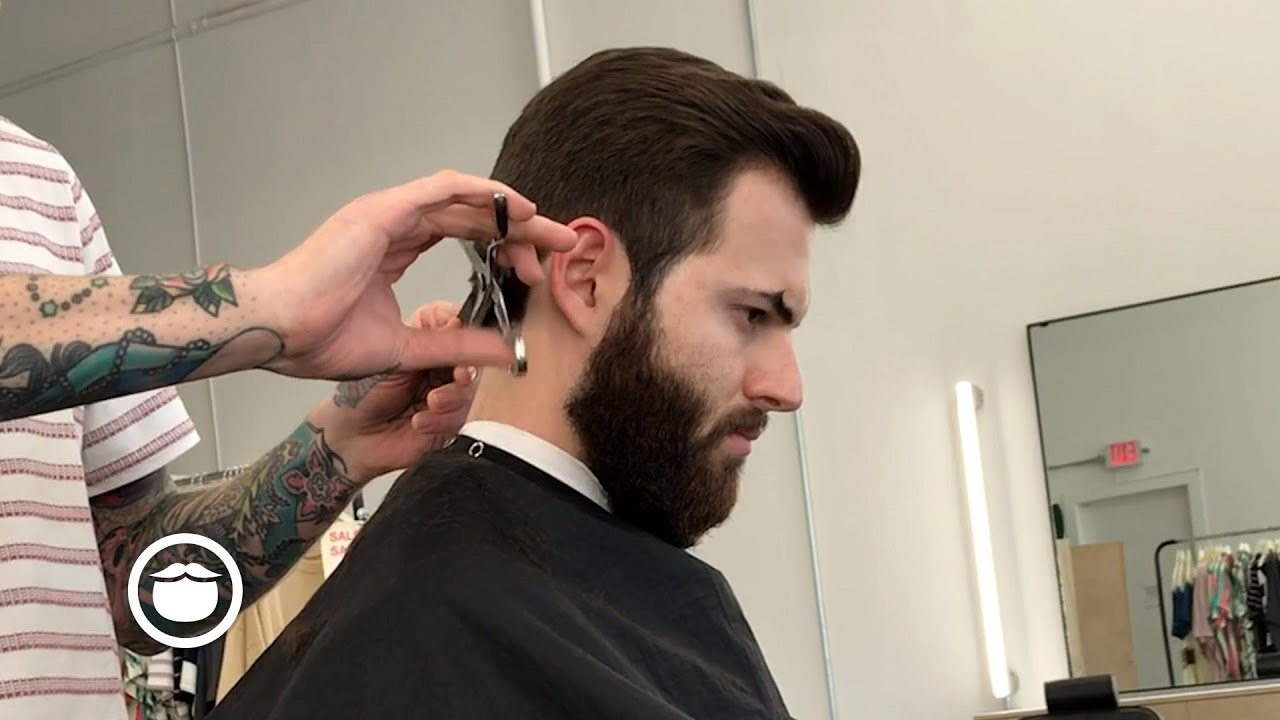 classic men's side part haircut