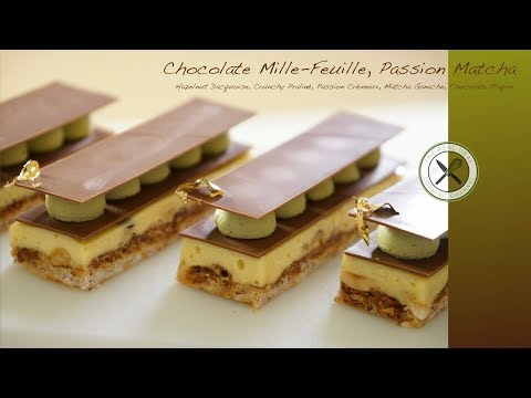 Chocolate Mille-Feuille, Passion Matcha – Bruno Albouze – The Real Deal