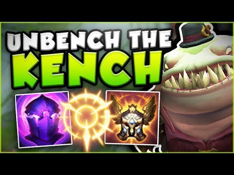 TIME TO UNBENCH? PRESS THE ATTACK KENCH OP! NEW TAHM KENCH SEASON 8 GAMEPLAY! - League of Legends