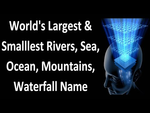 World's Largest & Smalllest Rivers, Sea, Ocean, Mountains, Waterfall-GK   Important Competitive Exam