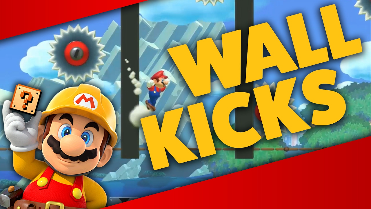 Super Mario Maker - PRACTICE WALL KICKS! - Level Showcases - YouTube