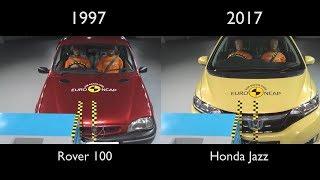 EuroNCAP 20 years of crash testing | Honda Jazz vs Rover 100 Comparison