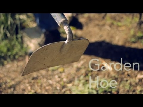 How to Use a Garden Hoe : Garden Tool Guides