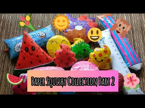 Paper Squishy Collection Part 2 ~ Colorful smua!🌈