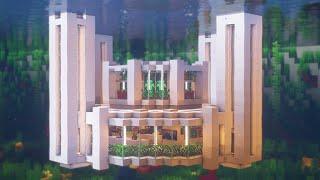 Minecraft: How to Build a Modern Underwater Base | Underwater Base Survival Tutorial