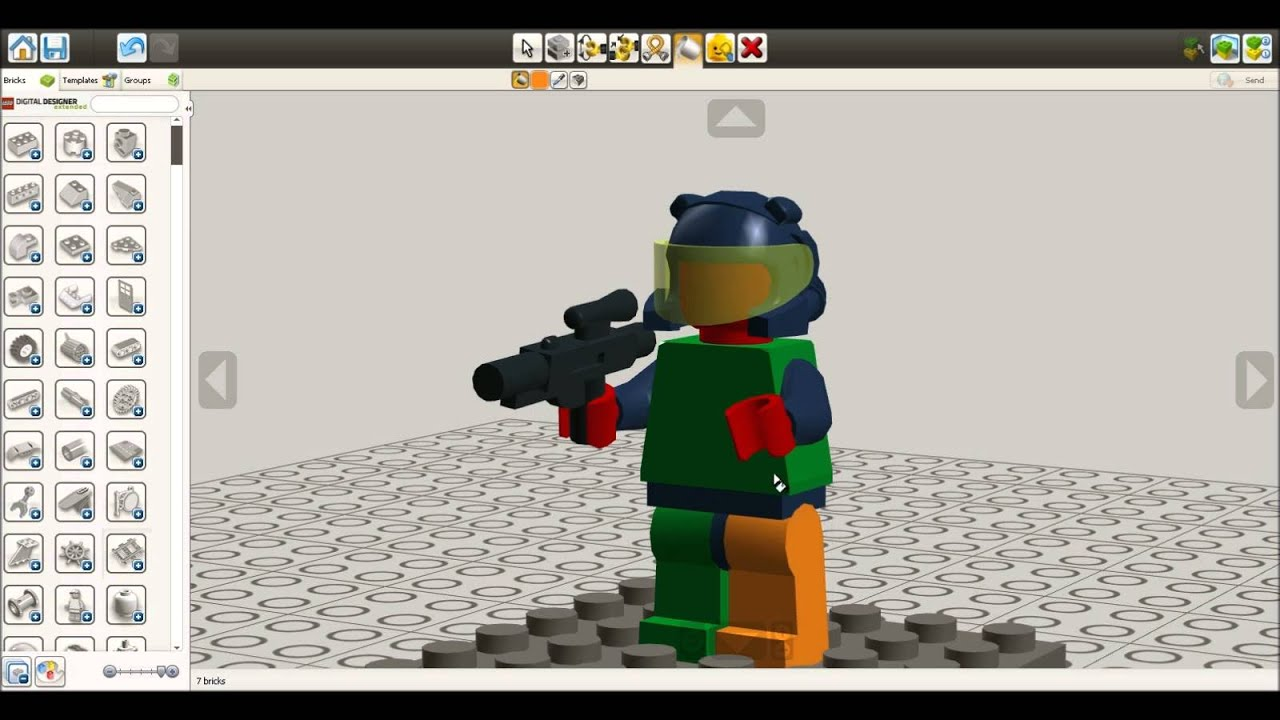 Creating a minifigure with LEGO Digital Designer 4.3 - YouTube