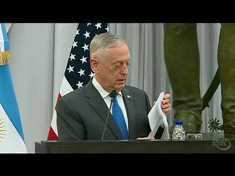 Defense Secretary Mattis Visits Argentina