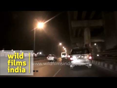 Night drive on NH236 from Gurgaon to Delhi